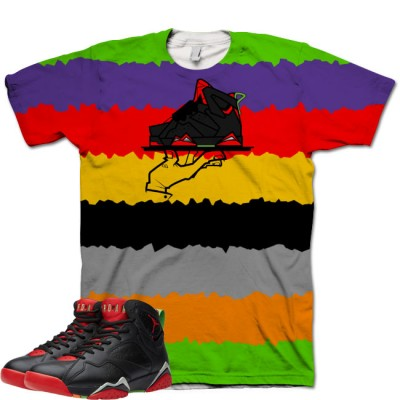 Jordan 7 Marvin The Martian Shirt V8 by GourmetKickz