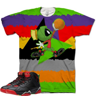 Jordan 7 Marvin The Martian Shirt V9 by GourmetKickz