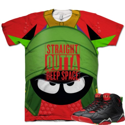 d319a9a0707 Jordan 7 Marvin The Martian T-Shirt | Straight Outta Deep Space