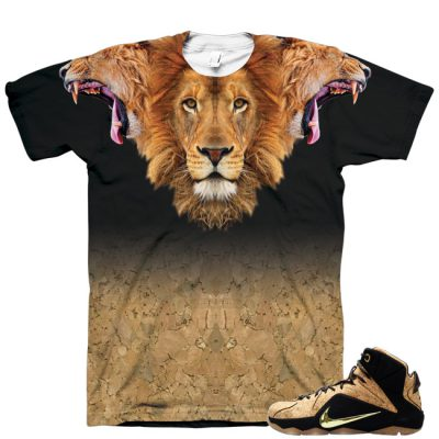 LeBron 12 EXT Cork 3 Heads of the Lion Shirt by GourmetKickz