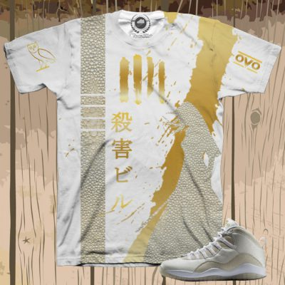 Kill Bill X Air Jordan 10 White OVO Shirt | Limited Edition
