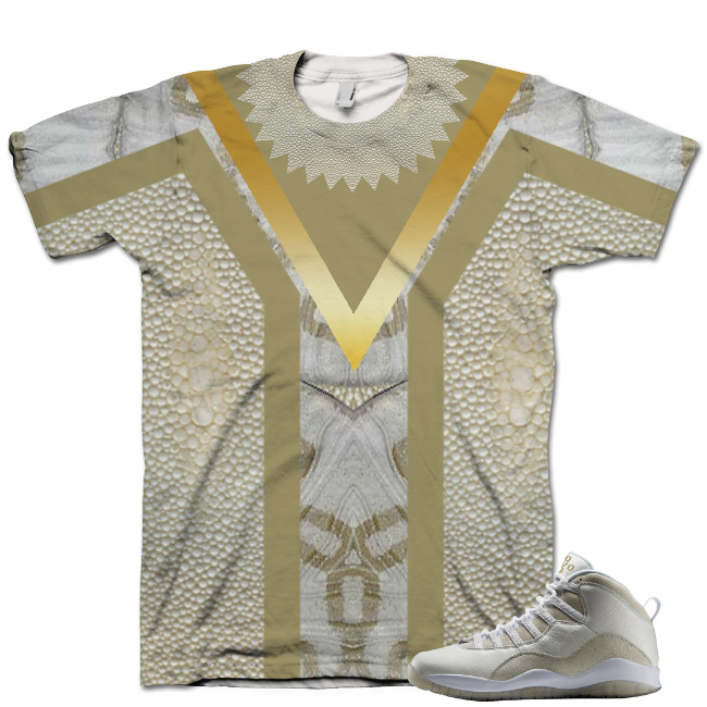 Nike Air Jordan 10 White OVO Shirt V10