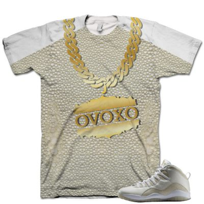 Nike Air Jordan 10 White OVO Shirt V3