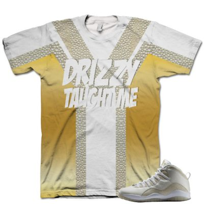 Nike Air Jordan 10 White OVO Shirt V5
