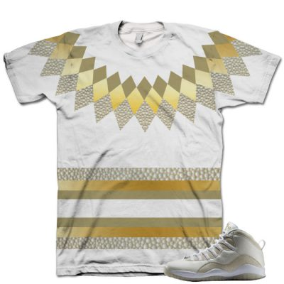 Nike Air Jordan 10 White OVO Shirt V6