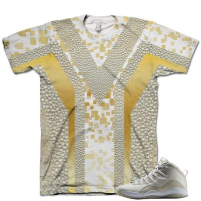 Nike Air Jordan 10 White OVO Shirt V9
