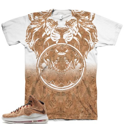 Beasting Lion Shirt for LeBron 10 EXT QS Cork V1