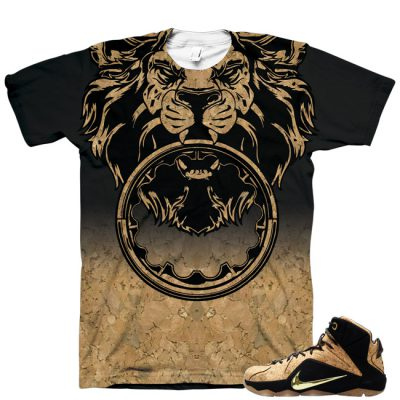 Beasting Lion Shirt for LeBron 12 EXT Cork