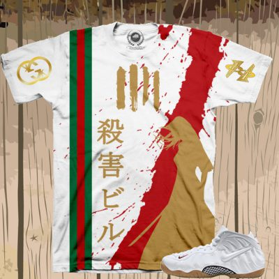 Kill Bill X White Gucci Foamposite Shirt | Limited Edition