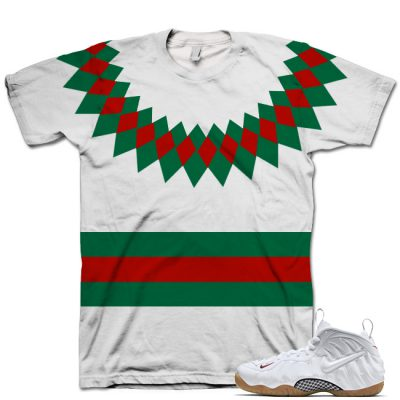 White Gucci Foamposite Shirt V1