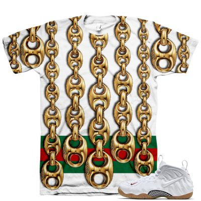 White Gucci Foamposite Shirt V10