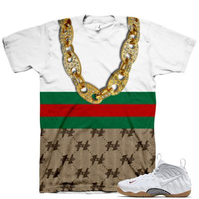 White Gucci Foamposite Shirt V5