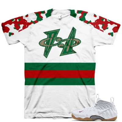 White Gucci Foamposite Shirt V6