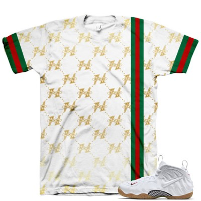 White Gucci Foamposite Shirt V8