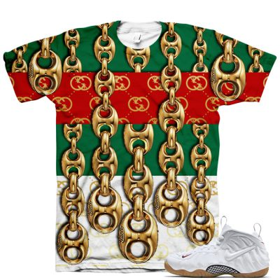 White Gucci Foamposite Shirt V9