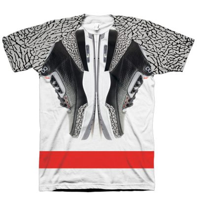 Jordan 3 Black Cement Shirt by GourmetKickz