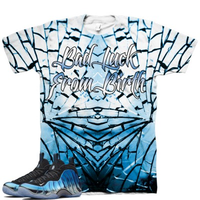 Bad Luck Version 1 | Blue Mirror Foamposite Shirt