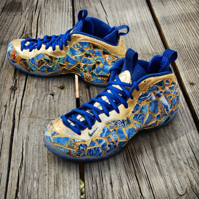 Custom Kintsugi Foamposite One by GourmetKickz