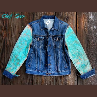 The Patina Sleeve Denim Trucker Jacket by Chef Spar