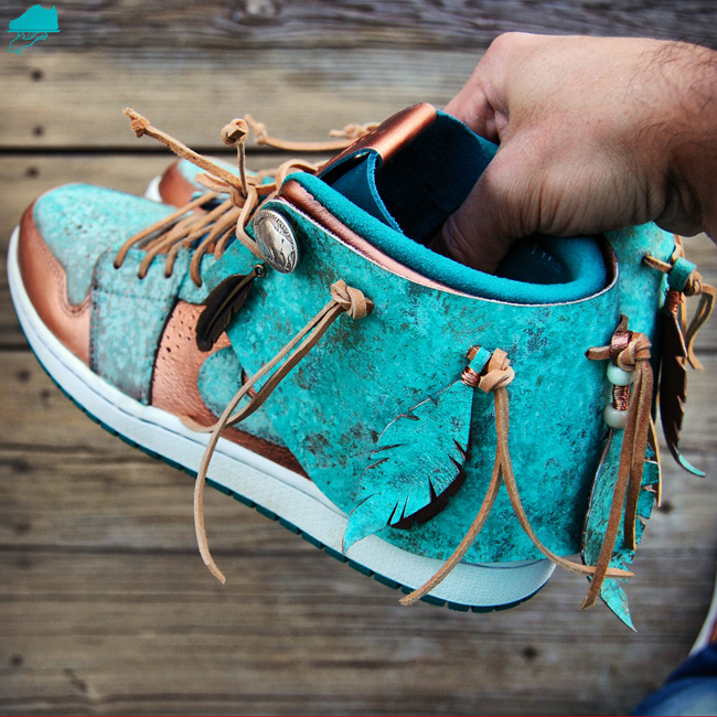Custom Air Jordan 1 Patina Moccasin By GourmetKickz