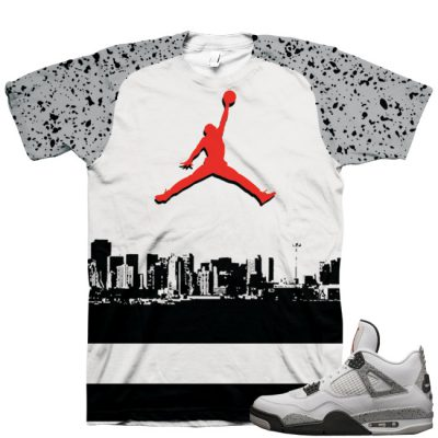 "Air Jordan 4 OG '89 ""White Cement"" Shirt V1"