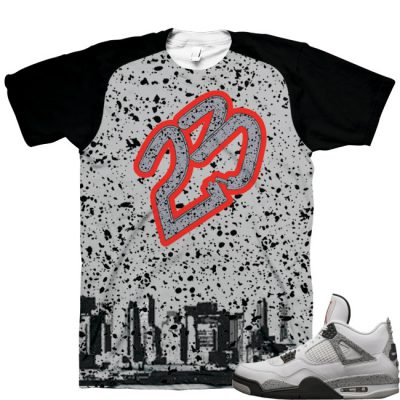 "9c94bfcdd631 Air Jordan 4 OG  89 ""White Cement"" Shirt V2"