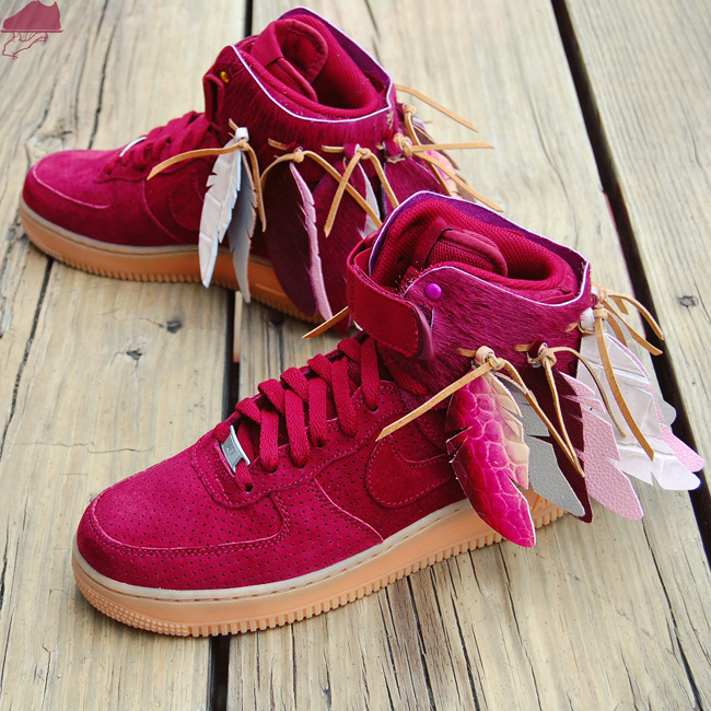 Red High Top Strap Shoes