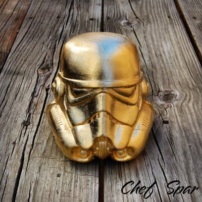 Premium Star Wars Helmet | Gold Leaf 8″