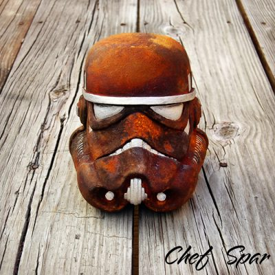 Premium Star Wars Helmet | Rust 8″