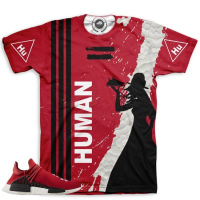 Pharrell Human Race Adidas NMD Custom T-Shirt by Chef Hanzo | Scarlet V2