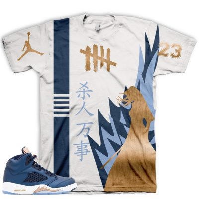 Jordan 5 Bronze T-Shirt | Killin' Everything All Over Print Tee V1