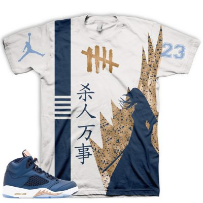 Jordan 5 Bronze T-Shirt | Killin' Everything All Over Print Tee V2