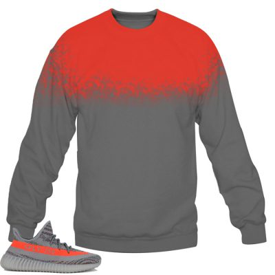 Yeezy Boost 350 V2 Beluga / Solar Red Sweatshirt by Chef V1