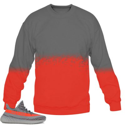Yeezy Boost 350 V2 Beluga / Solar Red Sweatshirt by Chef V4