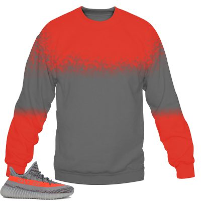 Yeezy Boost 350 V2 Beluga / Solar Red Sweatshirt by Chef V7