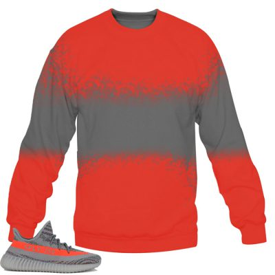 Yeezy Boost 350 V2 Beluga / Solar Red Sweatshirt by Chef V9