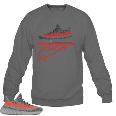 Yeezy Boost 350 V2 Beluga / Solar Red Sweatshirt | Now Serving FC