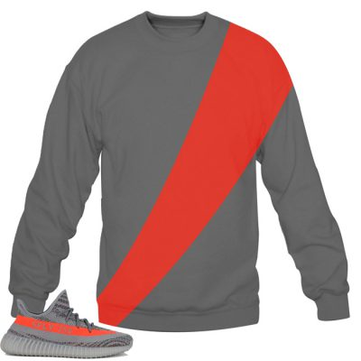 Yeezy Boost 350 V2 Beluga / Solar Red Sweatshirt by Chef V5