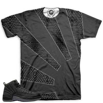 Jordan 12 Wool Sneaker Match Shirt | All Over Print