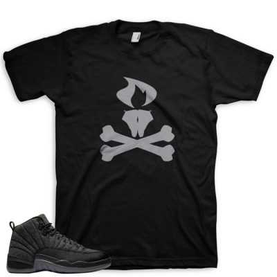 Jordan 12 Wool Sneaker Match Shirt | Cheffy Litkickz Black