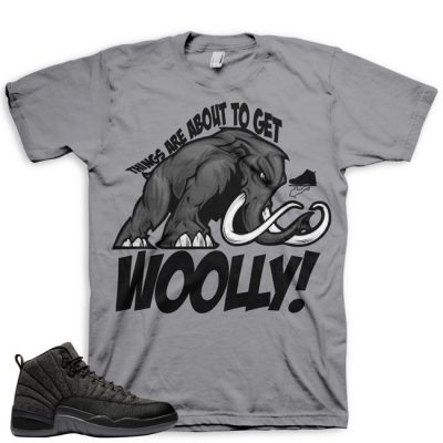 Jordan 12 Wool Sneaker Match Shirt | Gettin' Woolly Grey