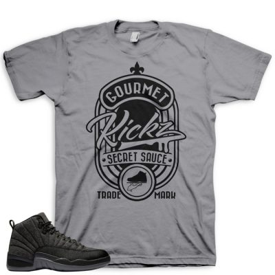 Jordan 12 Wool Sneaker Match Shirt | Secret Sauce Grey
