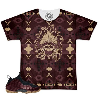 Foamposite One Night Maroon Match T-Shirt | Beacon Print