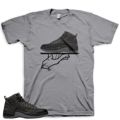 Jordan 12 Wool Sneaker Match Shirt | Now Serving FC Grey