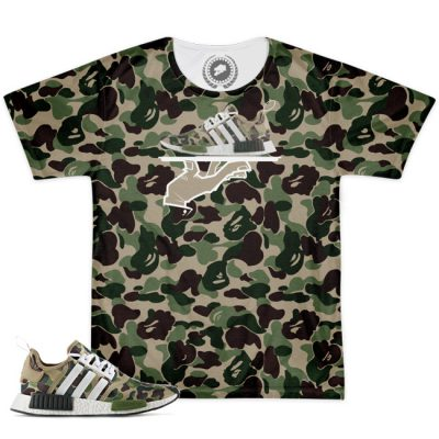 Now Serving Deluxe All Over Print Bape X Adidas NMD Match T-Shirt