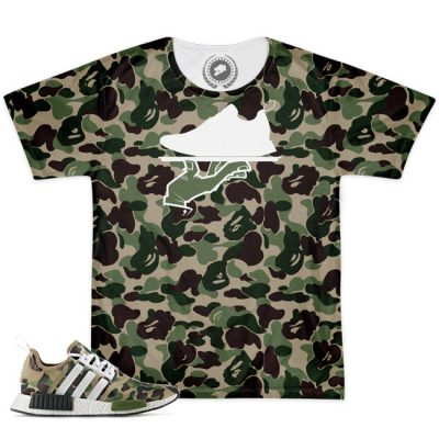Now Serving Camo All Over Print Bape X Adidas NMD Match T-Shirt