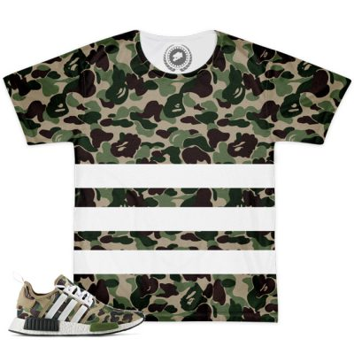 Match Bape X Adidas NMD Camo Striped T-Shirt