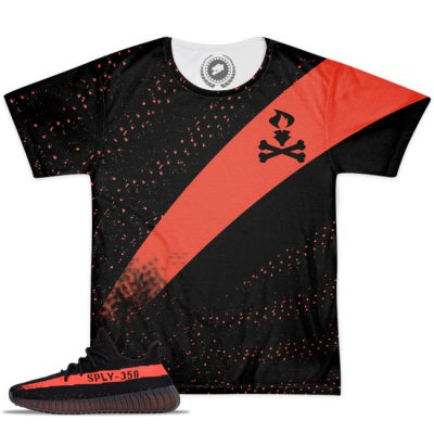 Yeezy Boost 350 V2 Blk/Red Match T-Shirt V3