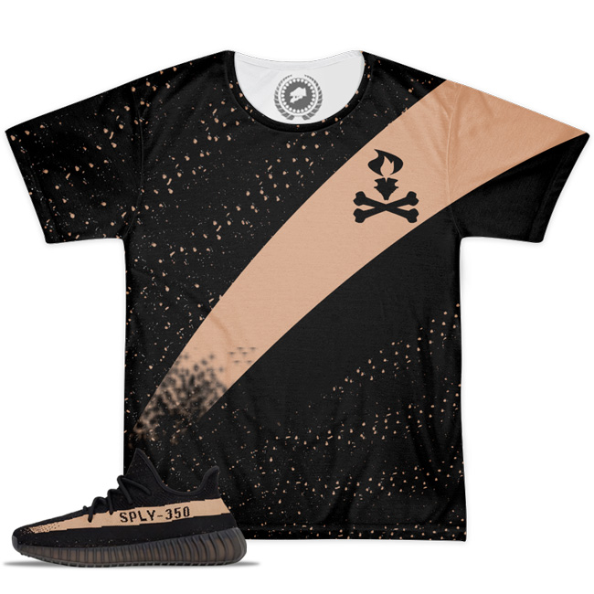 Yeezy Boost 350 V2 Blk/Copper Match T-Shirt V3