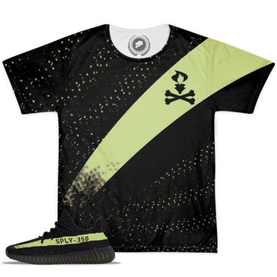 Yeezy Boost 350 V2 Blk/Green Match T-Shirt V3